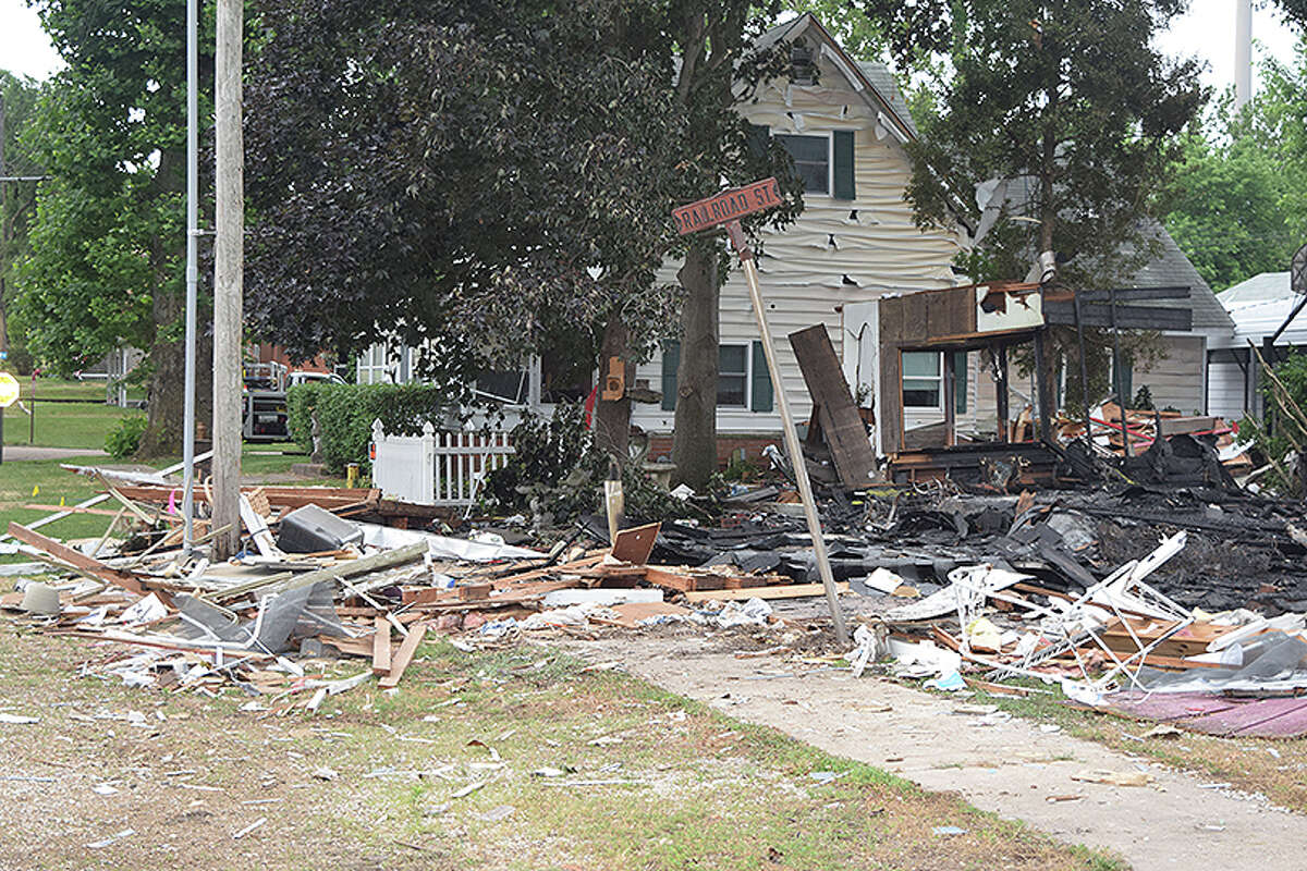 Investigators spent most of Thursday, June 24, 2021, in Meredosia, trying to determine the cause of an explosion that leveled one house and damaged several others. The explosion about 7:30 p.m. June 23 was felt and heard for blocks.