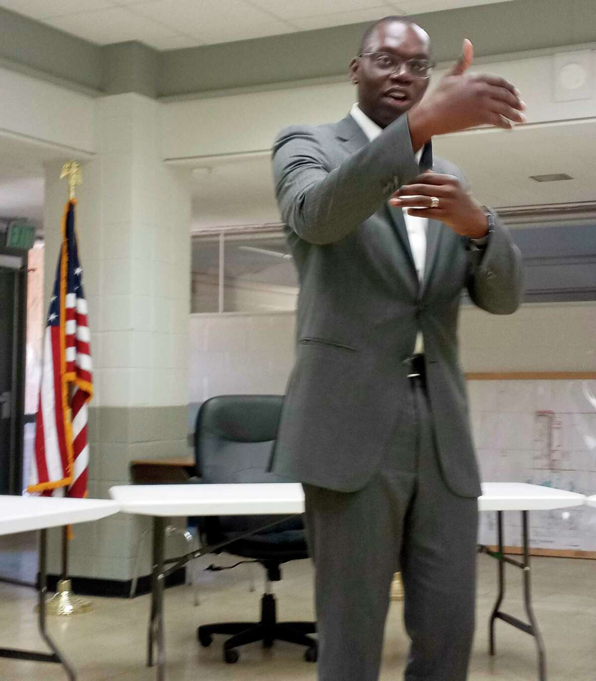 Lt. Gov. Garlin Gilchrist spoke about the importance of implementing fast and accessible internet services in Lake County. (Star photo/Shanna Avery)