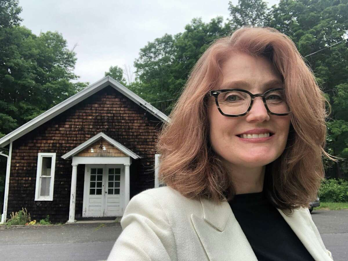 Redding resident Elizabeth Jensen is trying to get people together to rally around the historical Redding Grange, to save it from being sold on the market.