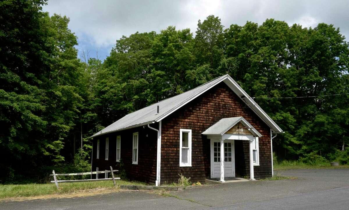 Redding Grange building on Newtown Turnpike, Redding, Conn, Wednesday, June 9, 2021.