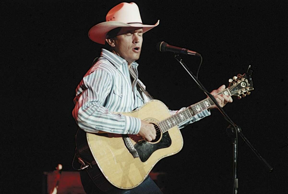 Atlanta - November 1: George Strait performs at The Omni Coliseum in Atlanta, Georgia on November 1, 1995 (Photo By Rick Diamond/Getty Images)
