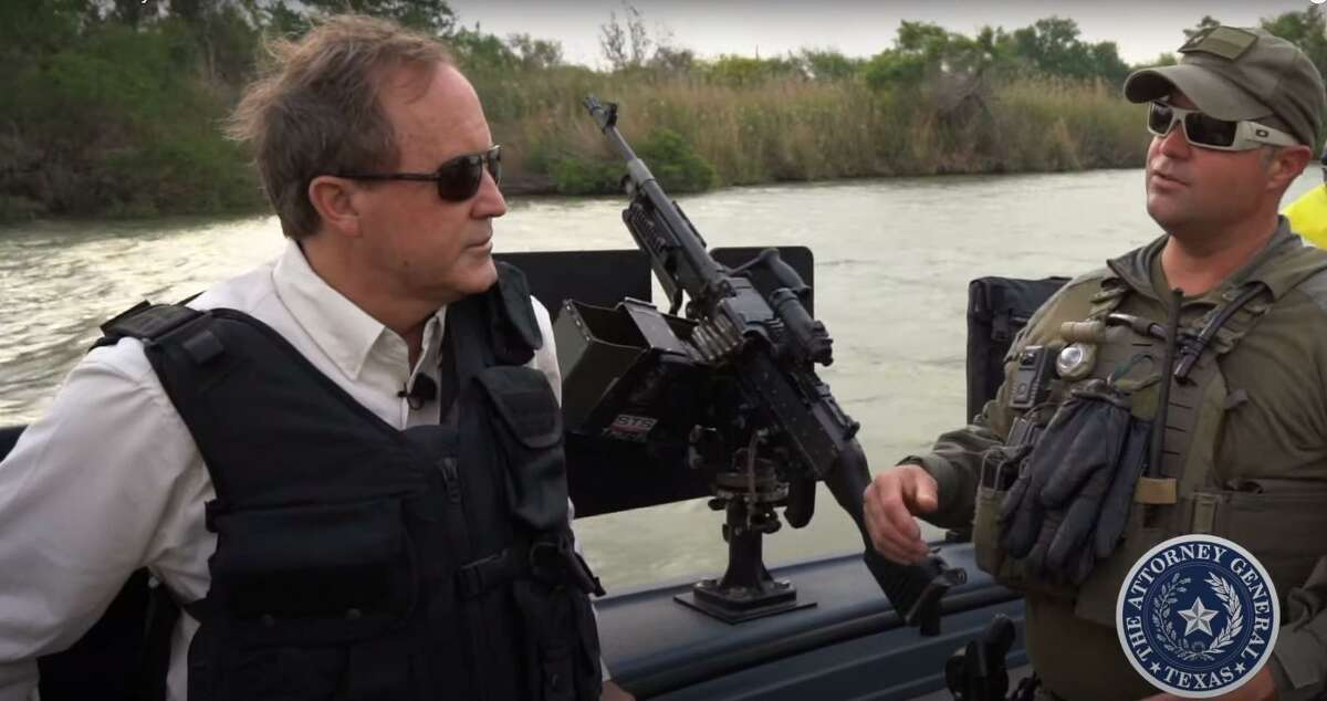 This is a still image from a border security video posted by Attorney General Ken Paxton's office on May 25.