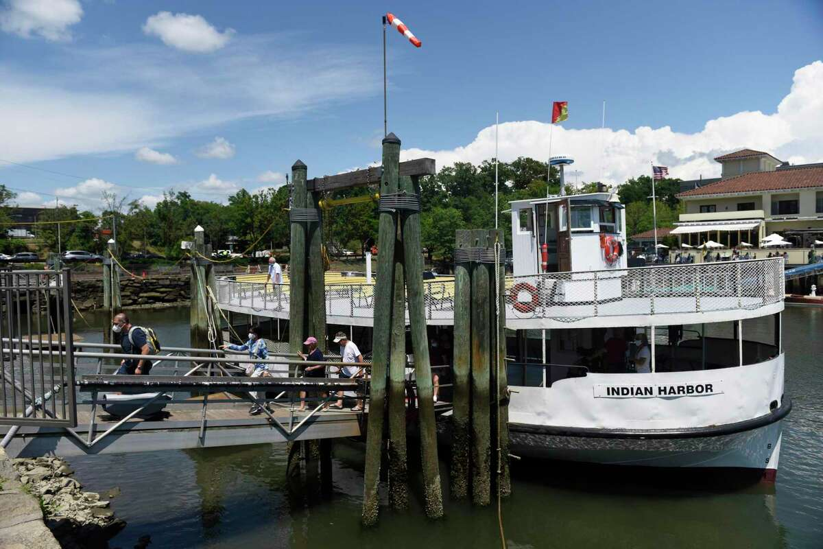 Service will be reduced this weekend on the ferry to Island Beach and service to Great Captain Island will be suspended after a mechanical breakdown occurred on Thursday on a ferry, not pictured, that goes to Great Captain Island.