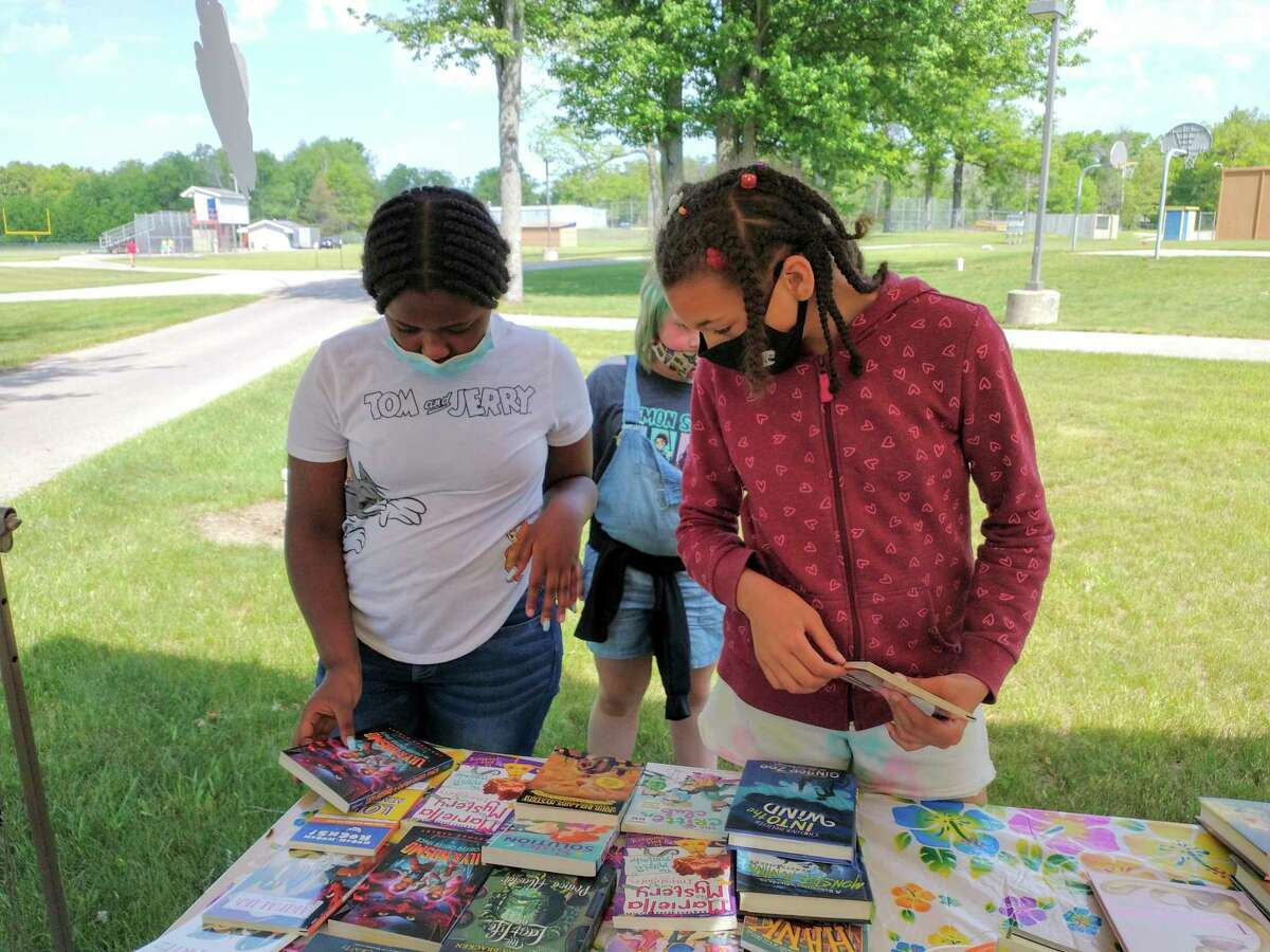 Students at Baldwin Community School were able to choose two free books from a class variety pack to take home and keep to enjoy over and over again. (Courtesy photo)