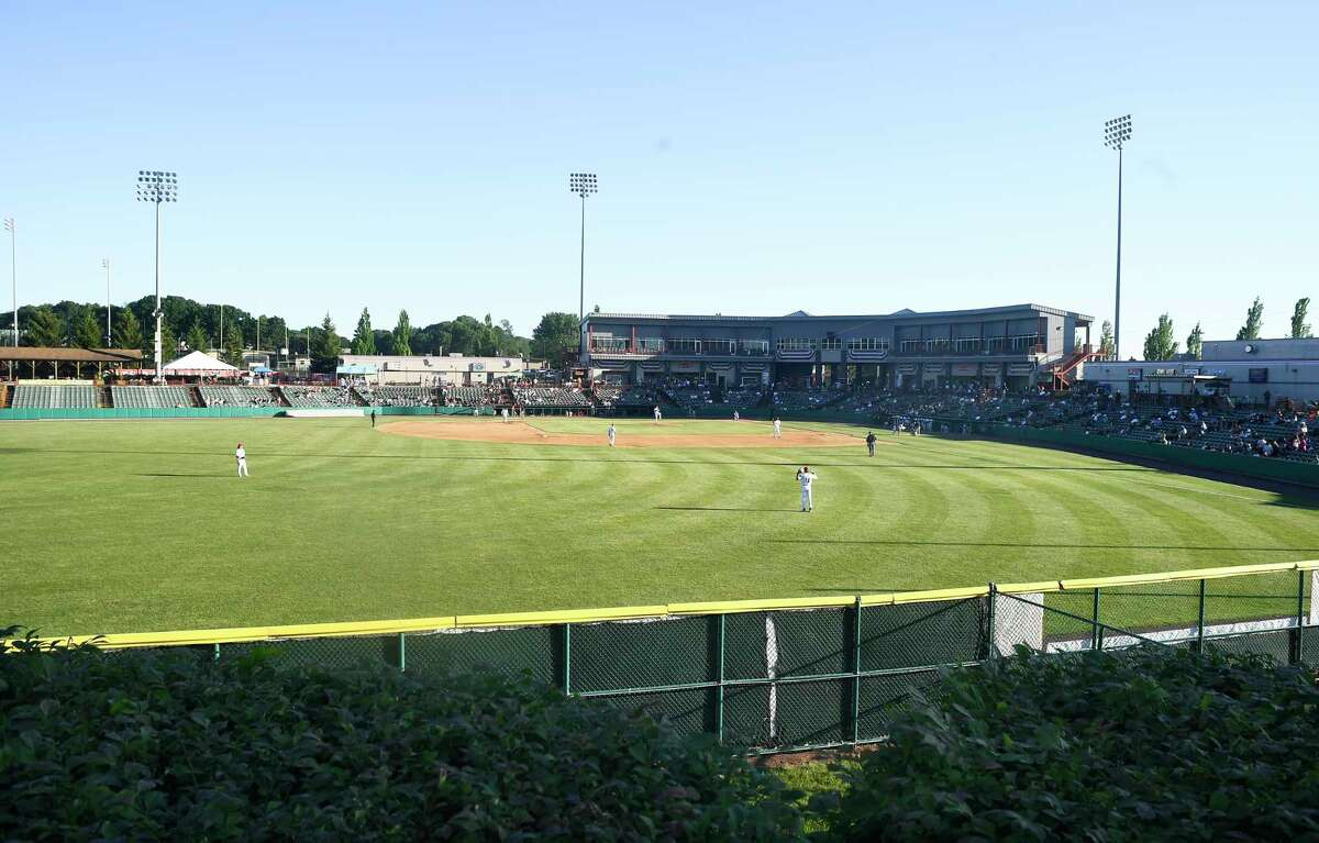 Fans watch the Tri-City ValleyCats play New Jersey on June 24, 2021.