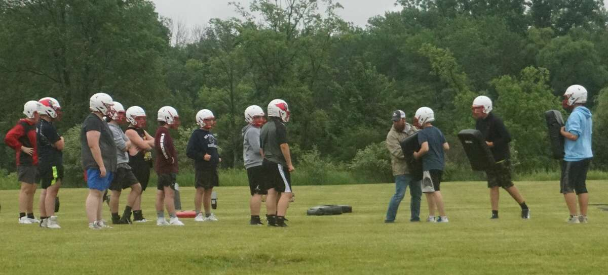 On Thursday, the Big Rapids football team held its first day of preseason camp.