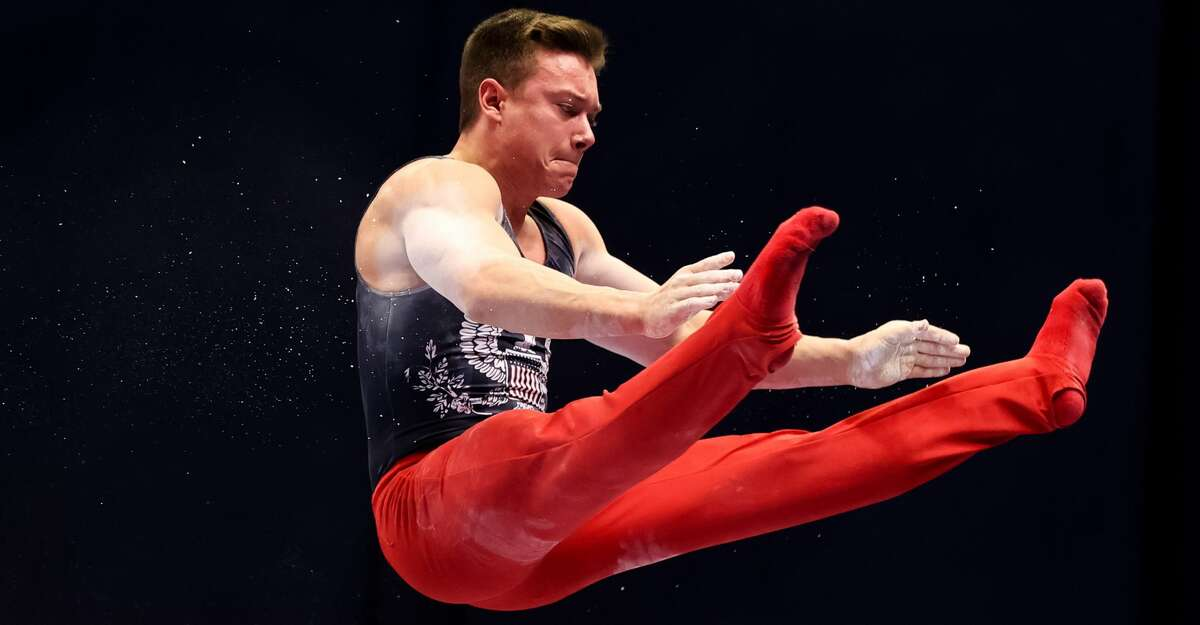 Brody Malone competes on parallel bars during day 1 of the Men's 2021 U.S. Olympic Trials at America's Center on June 24, 2021 in St Louis, Missouri. (Photo by Carmen Mandato/Getty Images)