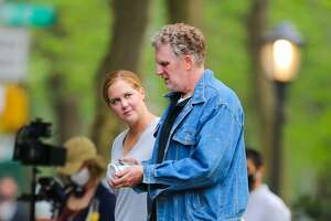 """Amy Schumer and Michael Rapaport are seen filming the Hulu series """"Life & Beth"""" on April 28, 2021, in New York City. The production will shoot in Dutchess County next week, the latest in a long list of TV and film productions to film in the region."""