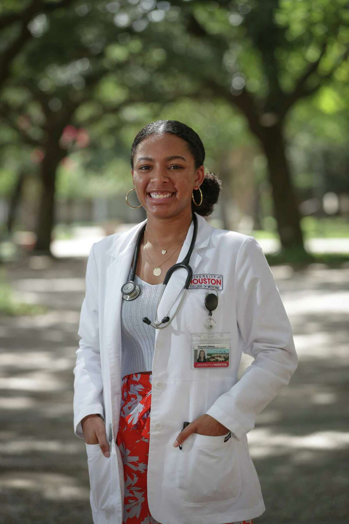 Kennedi Wilson is in the inaugural class of the University of Houston College of Medicine Thursday, June 24, 2021, in Houston.