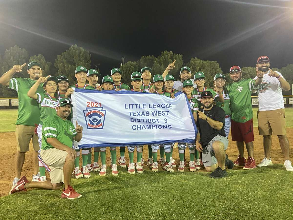 The Floyd Gwin 10-12 year old all-stars celebrate after beating Northern, 4-3, to claim the Little League District 3 championship, June 24 at Byron Johnston Field.