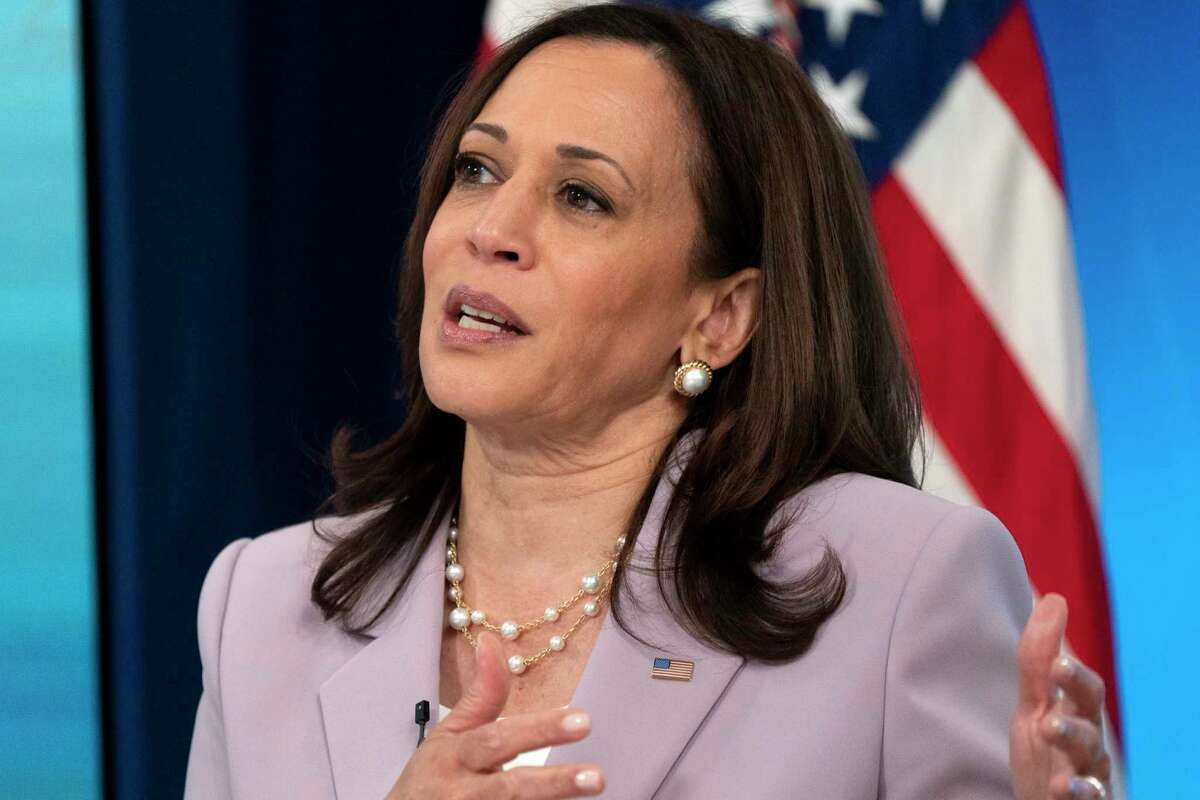 In this June 23, 2021, photo, Vice President Kamala Harrisspeaks in the South Court Auditorium on the White House complex in Washington. Harris faces perhaps the most politically challenging moment of her vice presidency Friday when she heads to the U.S. southern border as part of her role leading the Biden administration's response to a steep increase in migration.