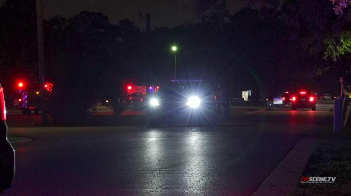 An officer's car took several gunshots at 14200 Minetta on Friday, June 25, 2021.