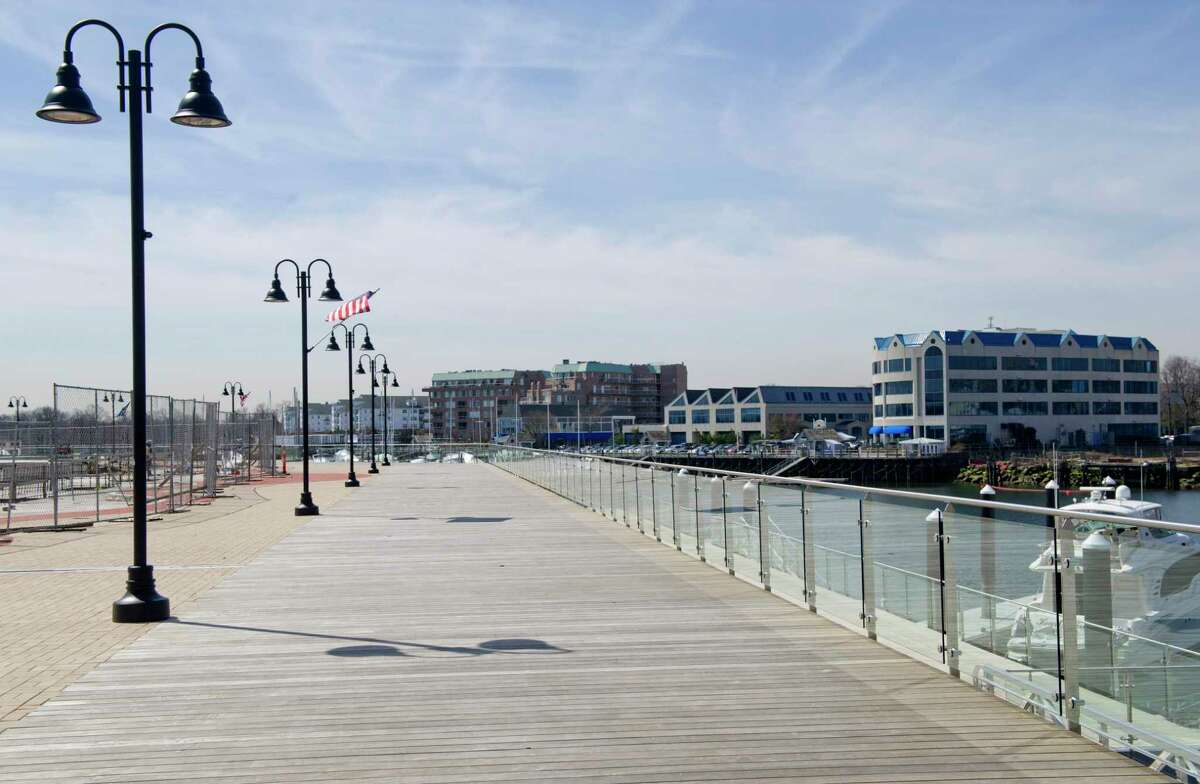 ITT Inc., a global manufacturing company, is set to relocate its corporate headquarters to Stamford, Conn., later this year. The company will occupy a 24,000-square-foot space at 100 Washington Blvd. in Harbor Point. This file photo shows the boardwalk and marina behind the location.