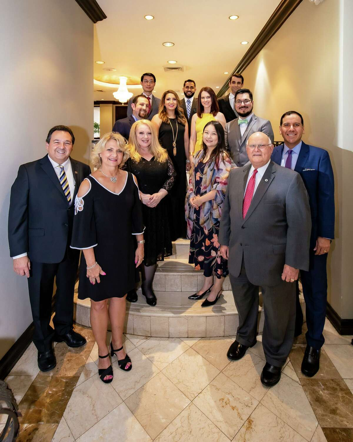 The founding cohort of Resident Physicians from the Family Medicine Residency Program is pictured with leaders from Laredo Medical Center, University of the Incarnate Word School of Osteopathic Medicine and Gateway Community Health Center.