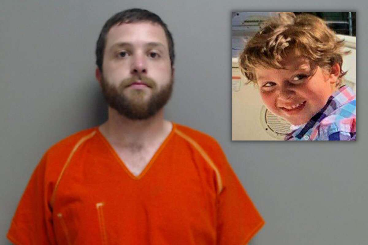 Dylan Walker, 27, is charged with tampering with evidence related to the death of 5-year-old Samuel Olson (right).