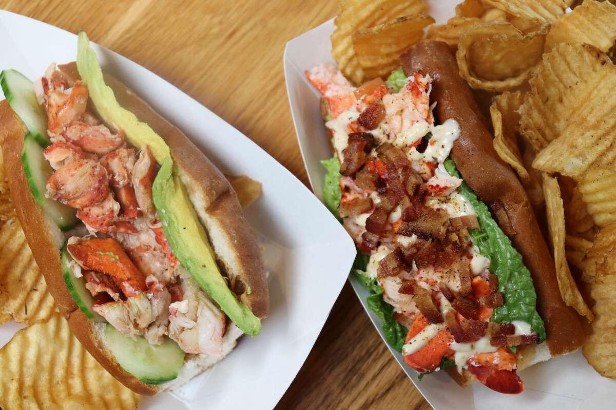 California and BLT lobster rolls at LobsterCraft LobsterCraft