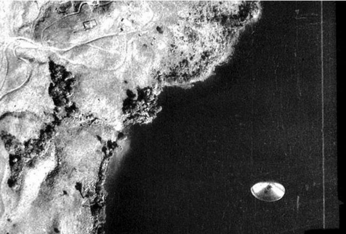 UFO photographed over Lake Cote, Costa Rica. September 1971.