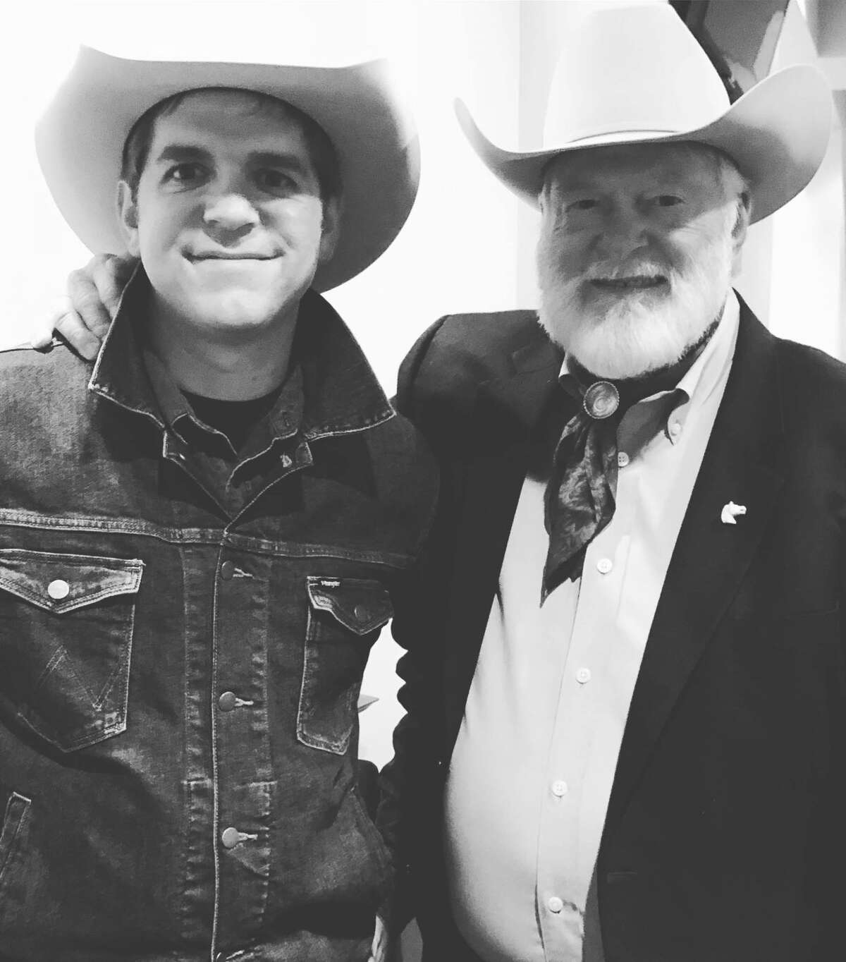 Red Steagall (right) will be the first guest of Andy Hedges' Cowboy Crossroad podcast that has now partnered with the National Ranching Heritage Center. The podcast launches on June 29.
