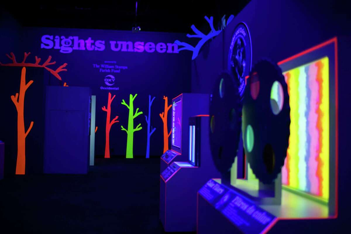 Device to explore colors through different color filters at the Children's Museum of Houston's exhibition called Sights unseen, Friday, May 21, 2021, in Houston.