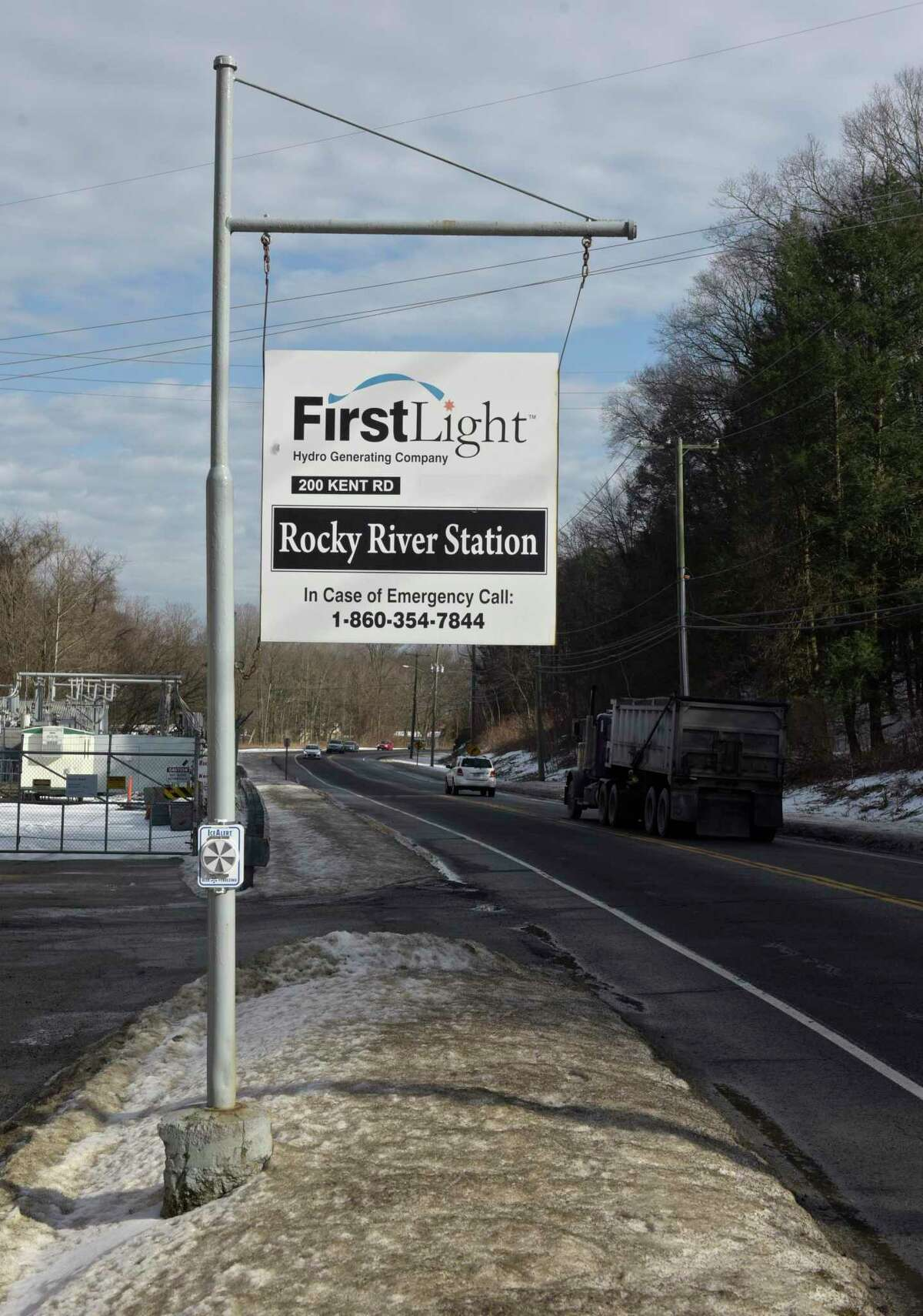 The Rocky River hydroelectric power-plant, owned by FirstLight, in New Milford.