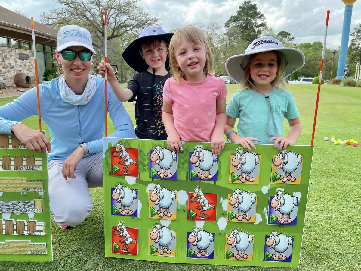 The Ashley Knoll Golf Academy at Panorama Golf Club is offering classes for students ages 3 up. Ashley uses Discover Golf Games that are part golf skill, part team work and part strategy. On June 27, at 4 pm there will be a 9 Hole Tournament. There will also be Junior Golf Days monthly. Children as young as 6 are invited to play 9 holes with instruction. Fee is $50. Players will start at 25 yards from the green and progress out to 200 yards based on ability. Objectives are first and foremost to have fun while learning the game on the course. Pictured are Ashley Knoll, Zayn Allen, Lucy Eddleman and Riley Davis.