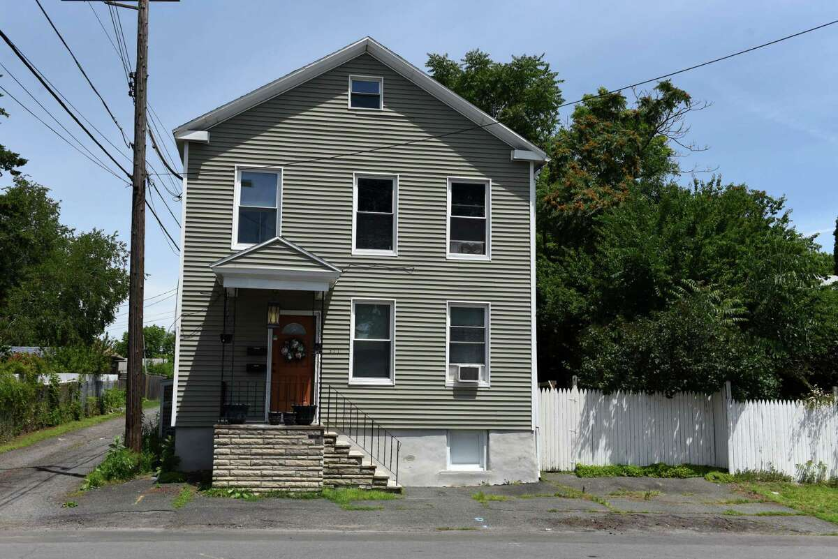 Exterior of 311 13th St., where apparent skeletal human remains were found on Friday, June 25, 2021, in Watervliet, N.Y. (Will Waldron/Times Union.