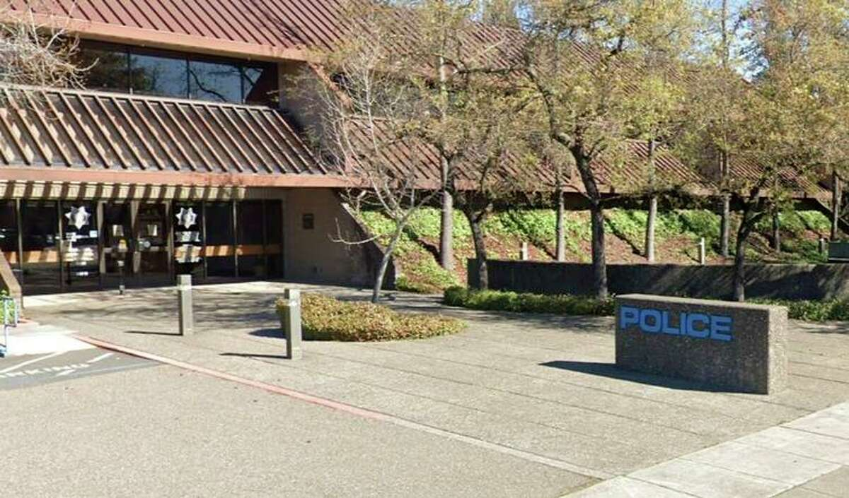 The outside of the Santa Rosa Police Department's headquarters in Santa Rosa, Calif. Santa Rosa police debunked a woman's claim that an officer used a loudspeaker to urge people in a shopping center to remove their masks.