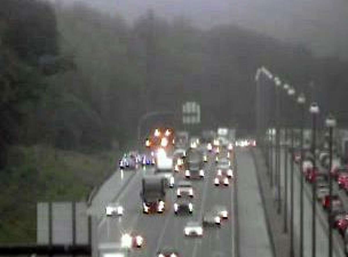 Interstate 84 westbound lanes through Cheshire, Conn., were closed Friday, June 25, 2021, between exits 26 and 25A for about four hours Friday morning.