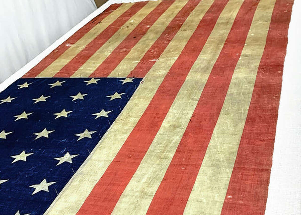 An authentic Union flag will be unveiled July 3 at the Louisiana Area Historical Museum.