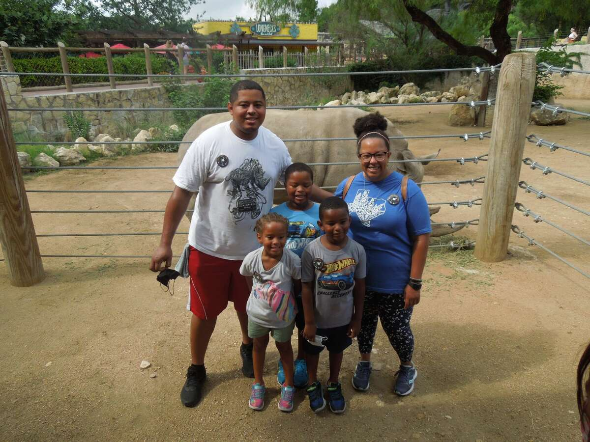 United Air Force Staff Sgt. Trymaine Kelley had been overseas for nearly 17 months and with the help of his wife Megan, he decided to surprise his three young children during their trip to the San Antonio Zoo.