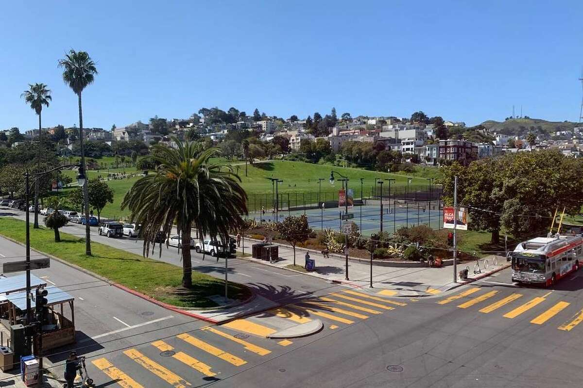 The unit is at the northeast corner of Dolores and 18th Street, so you're right next to the park.