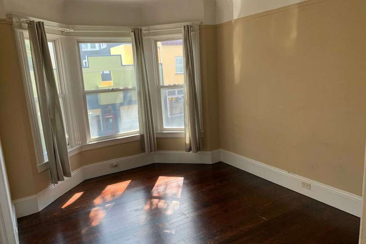"""There is """"a lot of original charm"""" and real hardwood floors throughout the apartment."""