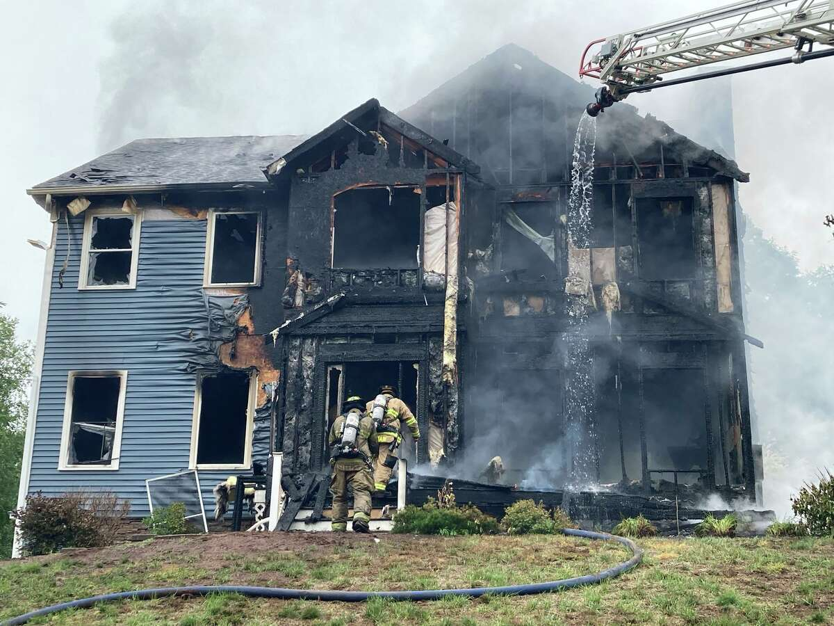 Fire officials said no one was injured in a fire at a Morning Wood Drive home in Beacon Falls, Conn., on Friday, June 25, 2021.