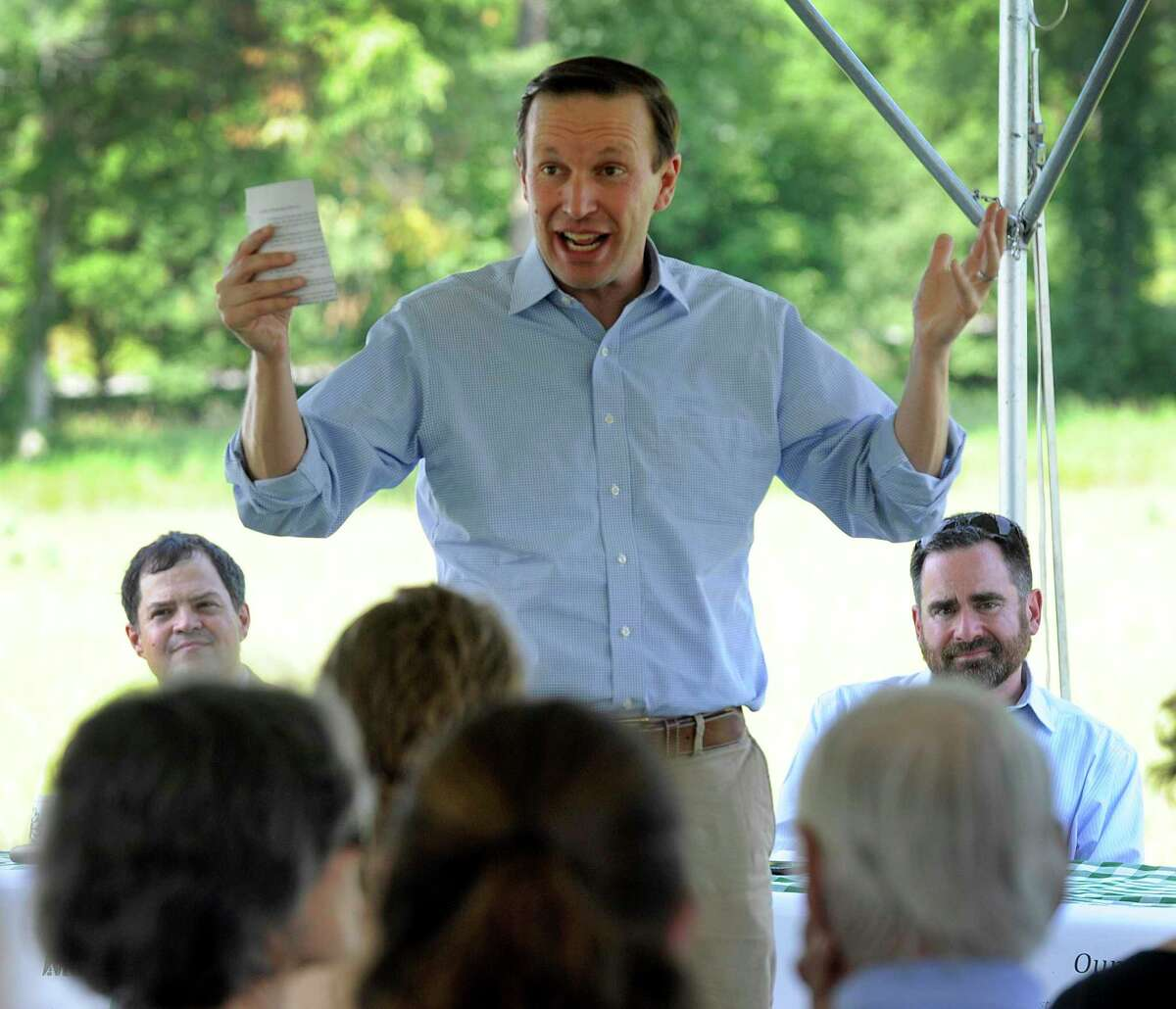 In 2018, S. Sen. Chris Murphy joined gathering to celebrate the Highlands Conservation Act. He is holding a Highlands Reauthorization Roundtable in Goshen June 28.
