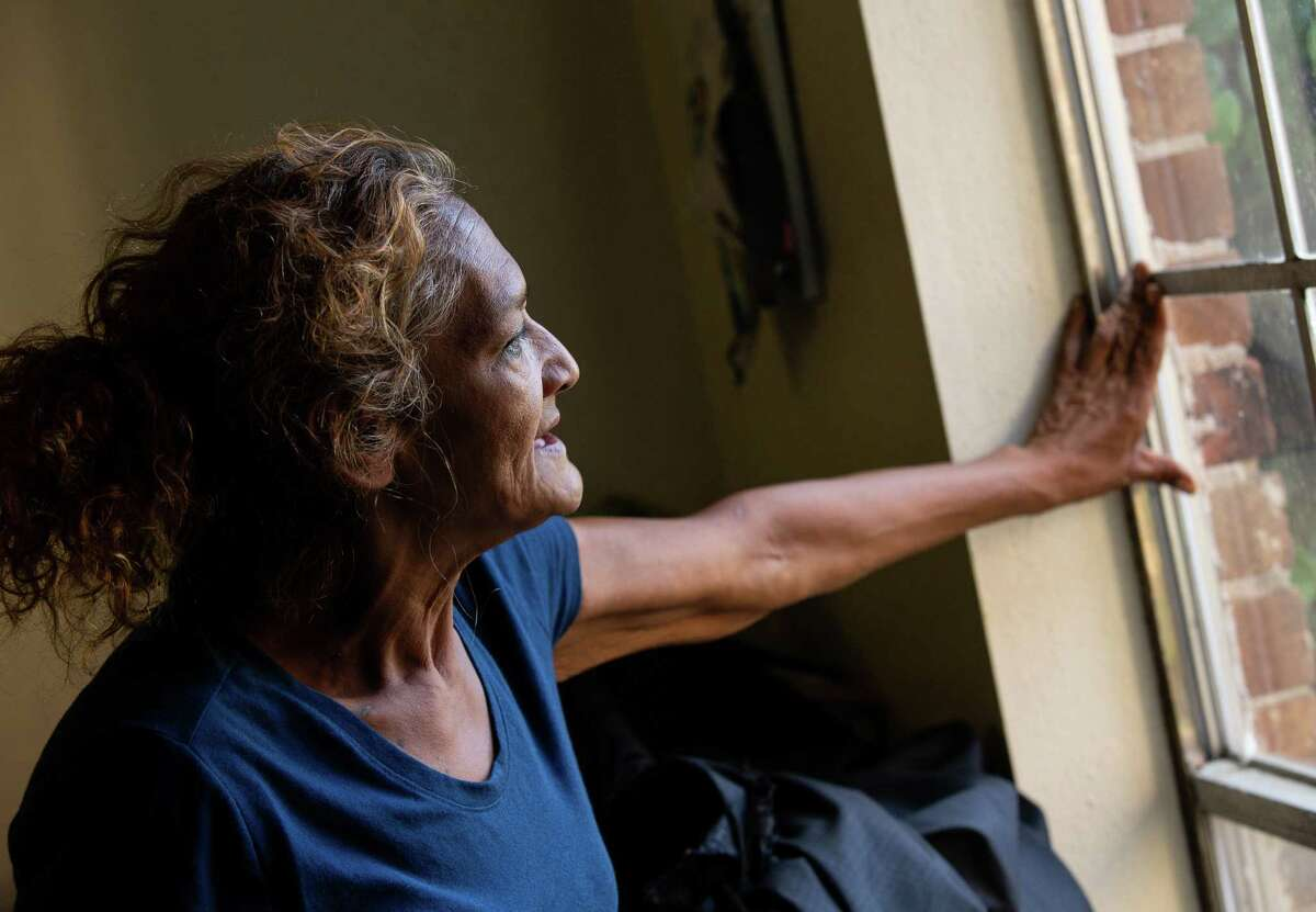 Corrina Jimenez poses for a photograph inside her unit at Victoria Manor Apartments on Friday, June 18, 2021, in Houston. Several COVID-19 relief measures are set to end soon, including an eviction moratorium and unemployment benefits.