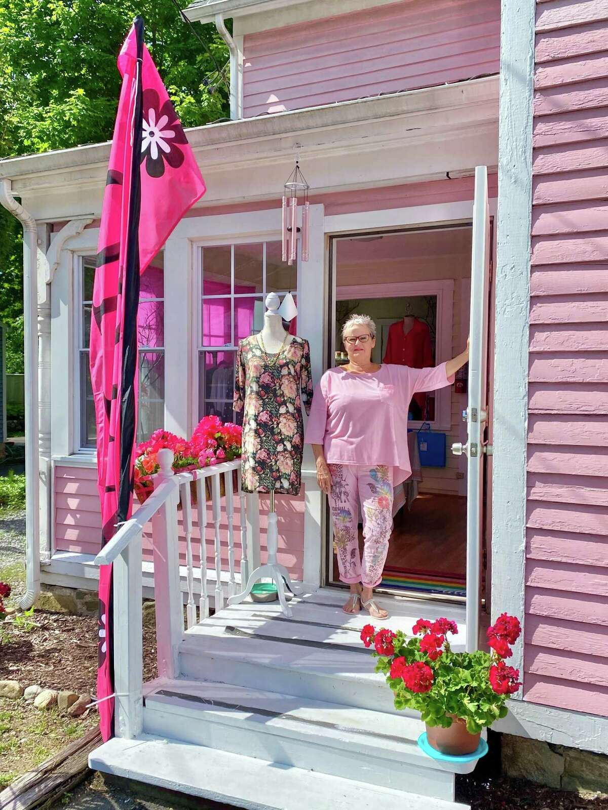 Brenda Quin, a resident of New Hartford and a native of South Africa who has worked as a fashion designer for decades, recently opened her own store, Diva USA, on Albany Turnpike in Canton.