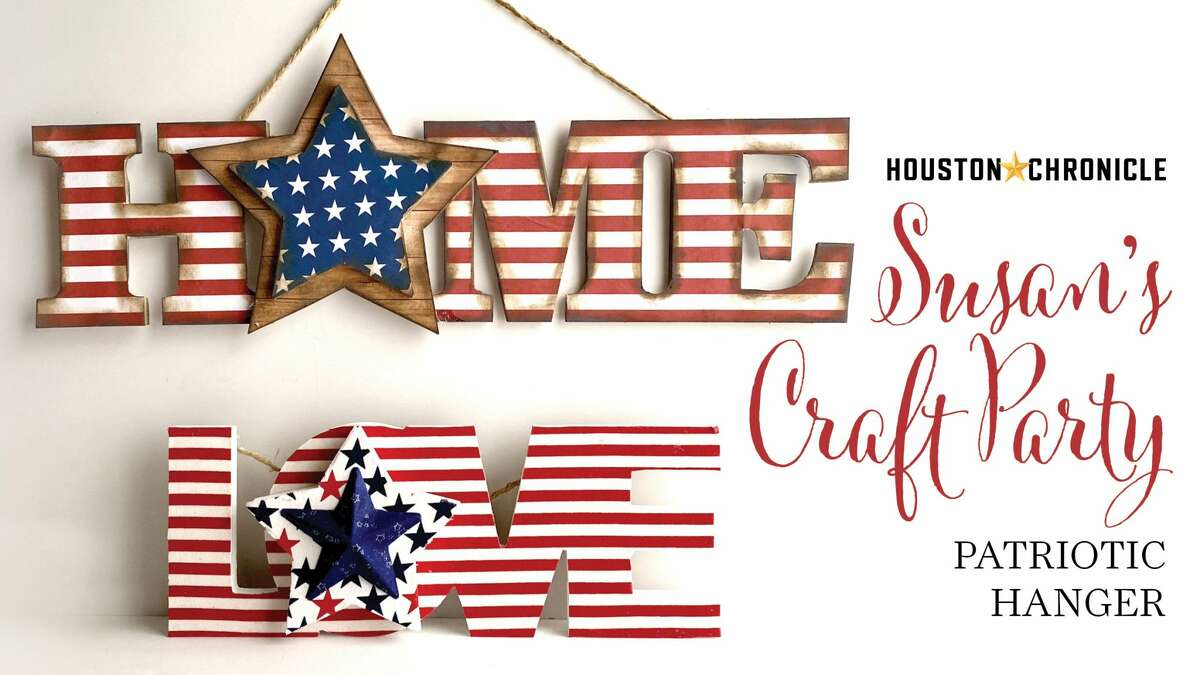 Make a quick and easy patriotic hanger just in time for the Fourth. Make with items you may already have or use free PDFs.
