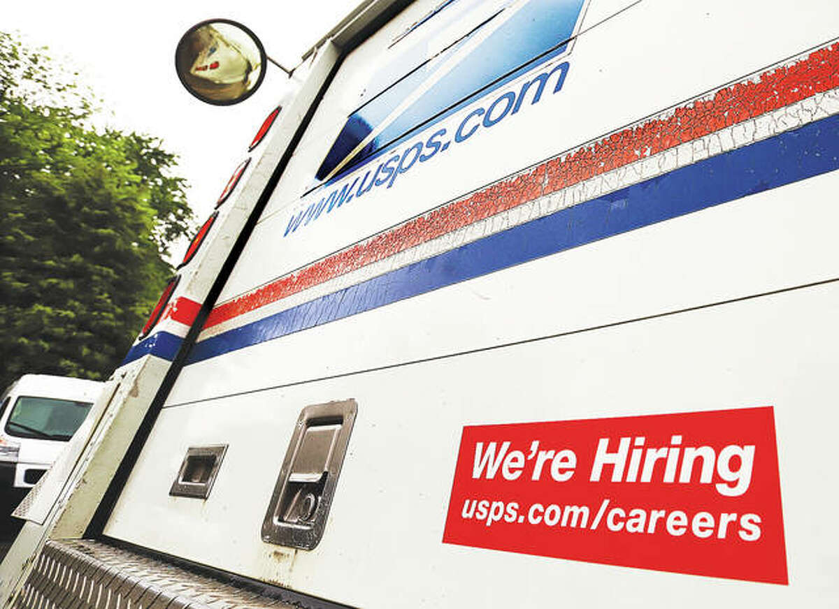 Many employers are having trouble finding workers across the country. Many U.S. Postal Service trucks in Alton carry a sign on the back advertizing that they are hiring.