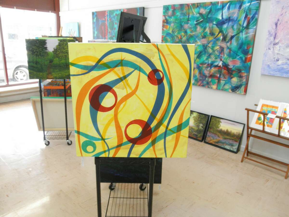 William Sievert's Lake Town Art Gallery located at 390 River St. in Manistee has been open since March 20 and is filled with variety of interesting landscape and abstract works that all drive home that point.