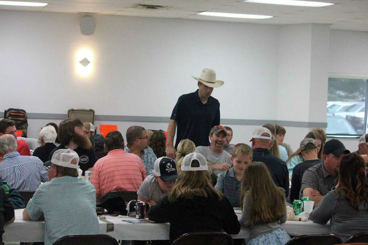 Approximately 170 individuals attended Thursday's Whitetails Unlimited banquet. (Pioneer photo/John Raffel)