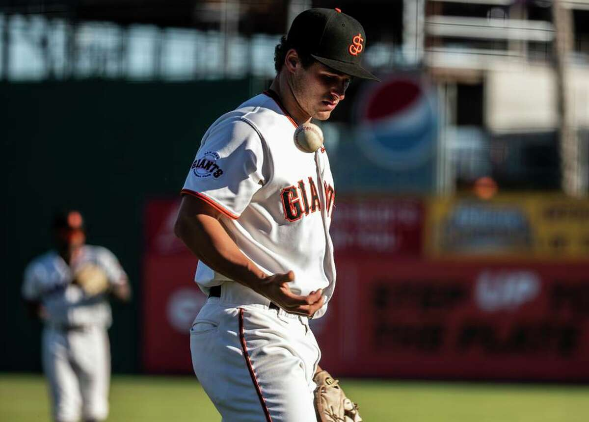 Brett Auerbach is paid $10,000 for the five-month season of the Low-A San Jose Giants - less than minimum wage.