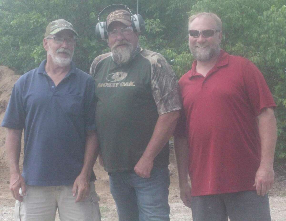 Top three finishers in the trap shoot division of the 3-gun shoot were Howie Lodholtz, first; Dan Tagliareni, second, and Greg Nichols Jr., third.