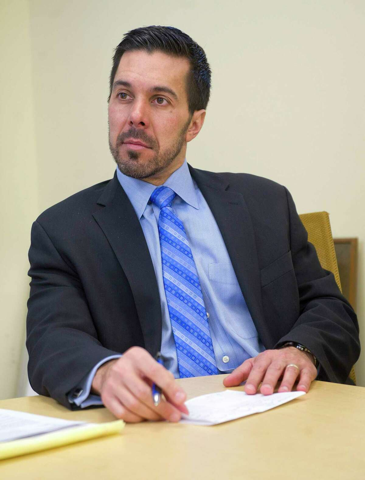 Michael Fernandes, Assistant Superintendent of Secondary Schools, on Tuesday, February 10, 2015.