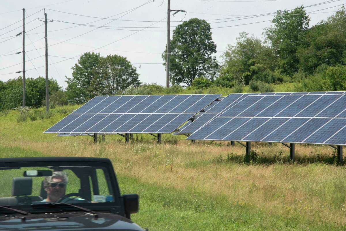A solar farm is seen on the corner of Rte 23 and Two Town Rd. on Friday, June 25, 2021 in Craryville, N.Y. (Lori Van Buren/Times Union)
