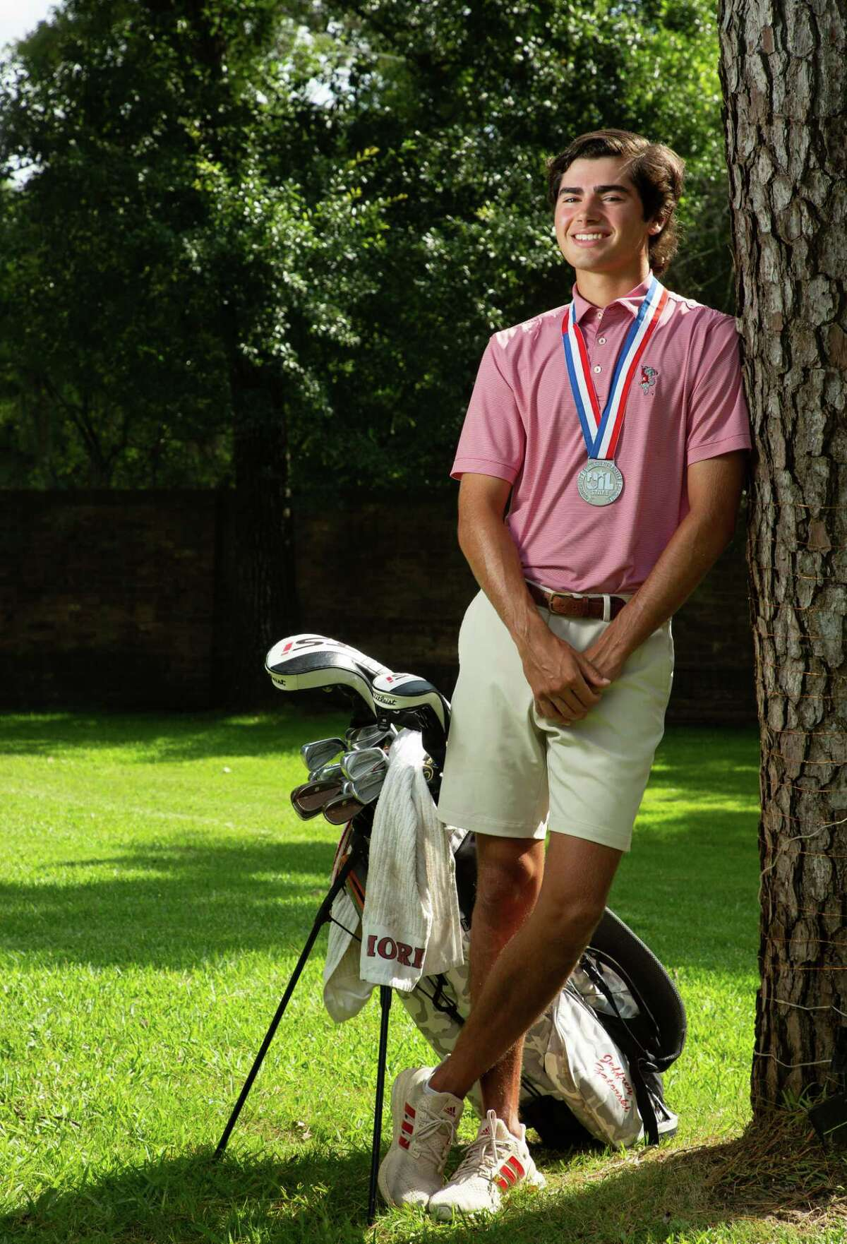 Memorial High School senior Jeffrey Zatorski - who was named All-Greater Houston Boys Golfer of the Year - poses for a photograph on Friday, June 25, 2021, in Houston. The University of Texas signee helped Memorial to a runner-up finish at the state tournament.