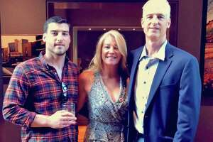 Tyler Gwozdz of Greenwich is remembered by his family as a warm, fearless and outgoing individual, who died from an opioid overdose at age 29. On Friday, his family launched the Tyler G Foundation in his memory to help others struggling with addiction and organizations supporting them. Tyler, left, is pictured here with his mother and father, Traci and Dave Gwozdz.