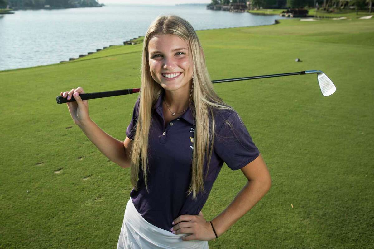 Montgomery High School senior Remington Isaac, the Houston Chronicle's All-Greater Houston girls golfer of the year, poses for a portrait on the golf course at Bentwater Country Club Thursday, June 17, 2021 in Montgomery. Isaac is a Kansas State signee who helped lead Montgomery to a runner-up finish at state.