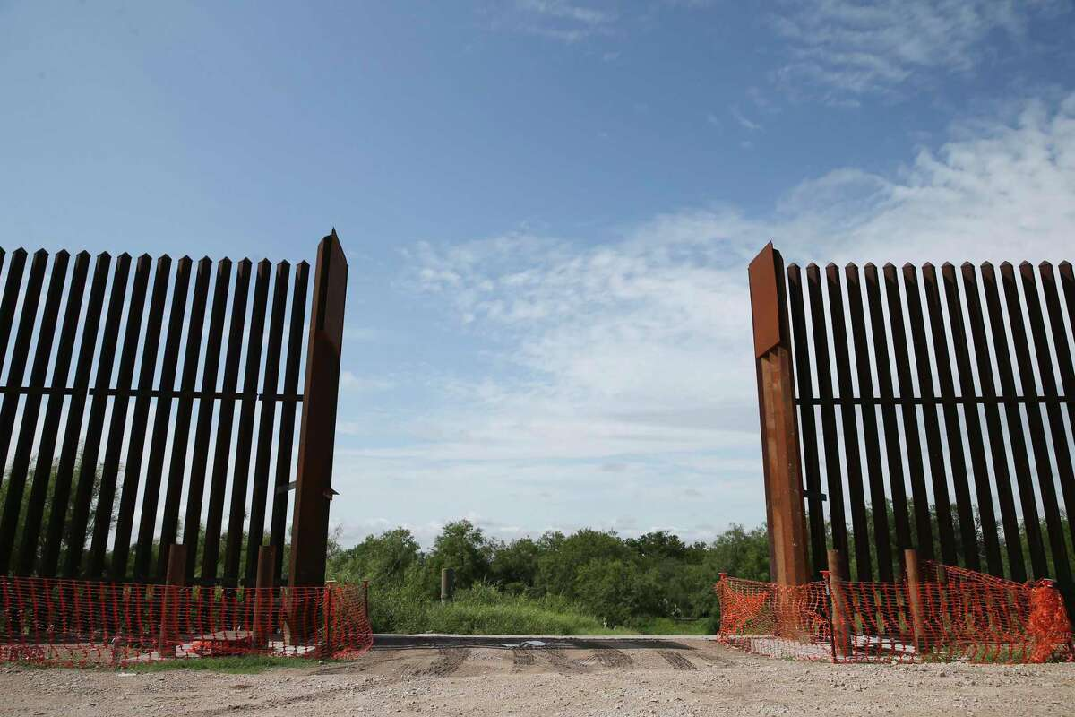 A section of the U.S.-Mexico wall remains unfinished near La Joya, Texas, Friday, June 4, 2021.