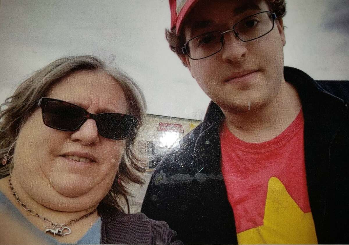 Barb Cressy and her son, Zek, pose for a photo.
