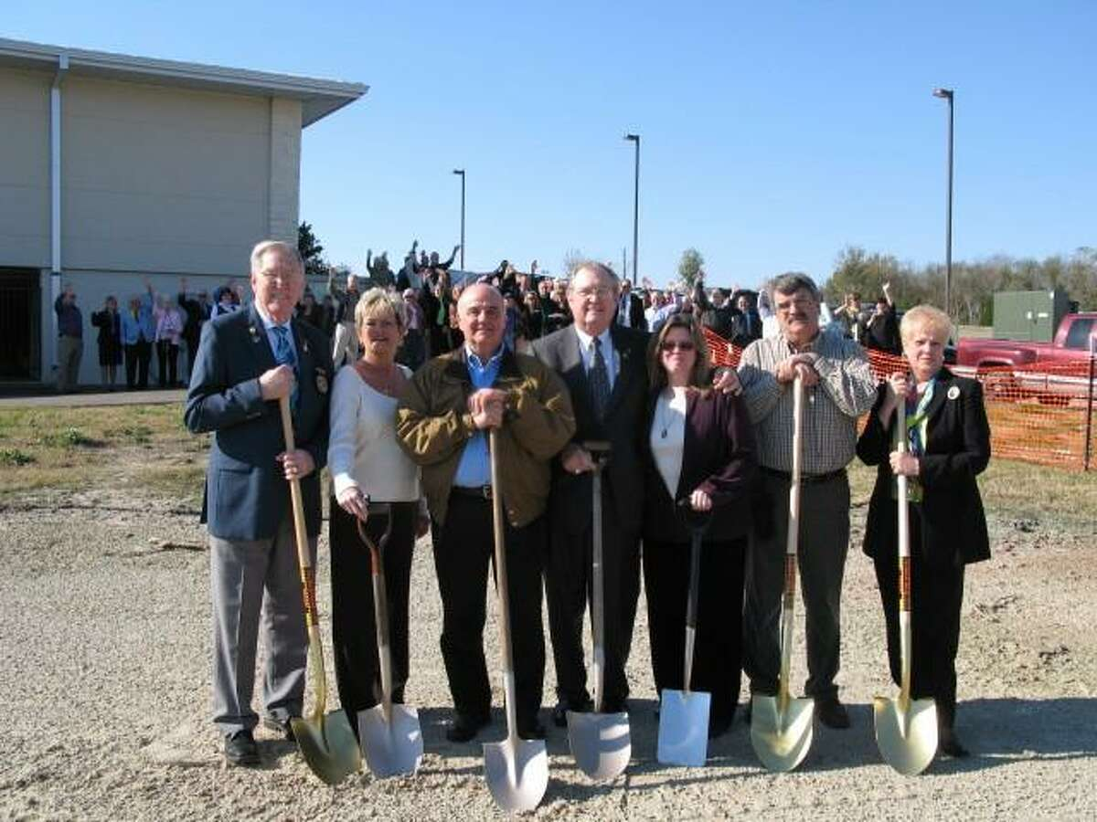 Pictured is the ground-breaking for The Rotary Club of Lake Conroe's Memory Park in 2007.